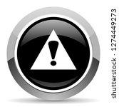 exclamation sign vector steel... | Shutterstock .eps vector #1274449273