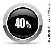40 percent vector steel icon.... | Shutterstock .eps vector #1274449276