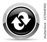 rotation vector steel icon.... | Shutterstock .eps vector #1274449303