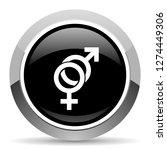 sex vector steel icon. chrome... | Shutterstock .eps vector #1274449306