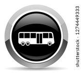 bus vector steel icon. chrome... | Shutterstock .eps vector #1274449333