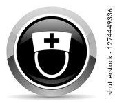nurse vector steel icon. chrome ... | Shutterstock .eps vector #1274449336