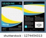 vector flyer  corporate... | Shutterstock .eps vector #1274454313