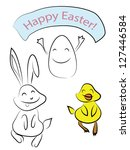 Silly Doodle Easter Friends