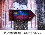 the liechtenstein flag attached ... | Shutterstock . vector #1274473729