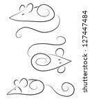 cute doodle mice | Shutterstock .eps vector #127447484