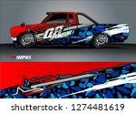 truck wrap graphic racing...   Shutterstock .eps vector #1274481619