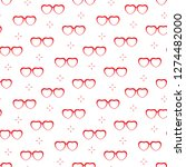 seamless pattern with heart... | Shutterstock .eps vector #1274482000