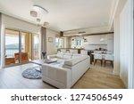 interior of light spacious... | Shutterstock . vector #1274506549