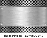 metal textured background  | Shutterstock .eps vector #1274508196