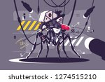 cybernetic robot mosquito drone ... | Shutterstock .eps vector #1274515210