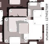 hand drawn seamless vector... | Shutterstock .eps vector #1274527009