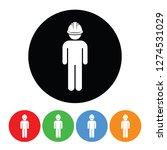 construction worker icon figure ... | Shutterstock . vector #1274531029
