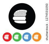 hamburger with bite missing... | Shutterstock . vector #1274531050