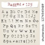 hand drawn ragged typewriter... | Shutterstock . vector #1274545489