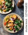 cooked organic vegan veggie... | Shutterstock . vector #1274546830