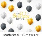 abstract happy birthday balloon ...   Shutterstock .eps vector #1274549179