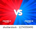 Stock vector vector illustration versus screen vs fight background for battle competition and game red vs 1274550490