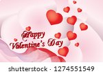 happy valentine's day with... | Shutterstock .eps vector #1274551549