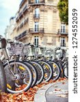 Parked Bicycles In Paris In The ...