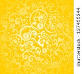 yellow background with lemon. ...   Shutterstock . vector #127455344