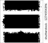 set of grunge textures on white ... | Shutterstock .eps vector #1274554396