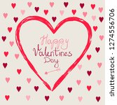 happy valentines day card ... | Shutterstock .eps vector #1274556706