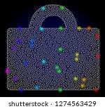 glossy polygonal mesh baggage... | Shutterstock .eps vector #1274563429