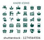 knob icon set. 30 filled knob... | Shutterstock .eps vector #1274564506