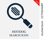 hotdog search icon. editable...   Shutterstock .eps vector #1274564689