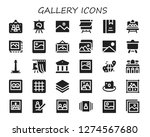 gallery icon set. 30 filled... | Shutterstock .eps vector #1274567680
