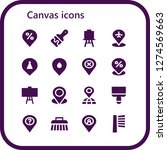 canvas icon set. 16 filled...