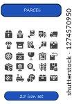 parcel icon set. 25 filled... | Shutterstock .eps vector #1274570950