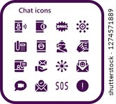 chat icon set. 16 filled chat... | Shutterstock .eps vector #1274571889
