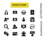 support icons set with document ...