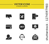 help icons set with book tools  ... | Shutterstock .eps vector #1274597983