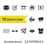 activity icons set with t shirt ...