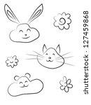Cute Doodle Animal Friends