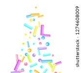 sprinkles grainy. sweet...   Shutterstock .eps vector #1274608009
