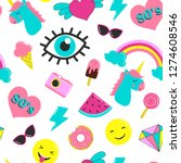 set of stickers 80's in the...   Shutterstock .eps vector #1274608546