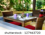 restaurant outdoors. tropical... | Shutterstock . vector #127463720