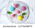 colorful french dessert... | Shutterstock . vector #1274638870