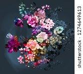 Stock photo  background rose flowers 1274649613