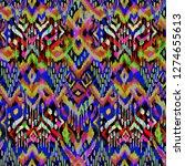abstract ikat texture  ... | Shutterstock . vector #1274655613