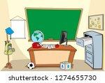 illustration of a school... | Shutterstock .eps vector #1274655730
