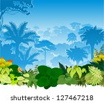 vector tropical rainforest... | Shutterstock .eps vector #127467218