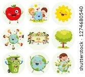 vector illustration of cartoon... | Shutterstock .eps vector #1274680540