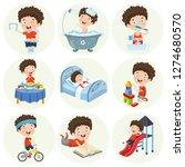 vector illustration of cartoon... | Shutterstock .eps vector #1274680570