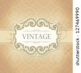 vintage frame | Shutterstock .eps vector #127469990