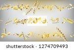 2019 christmas tinsel confetti  ... | Shutterstock .eps vector #1274709493